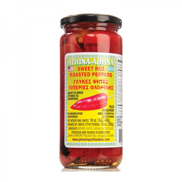 SWEET RED ROASTED PEPPERS, GREEK