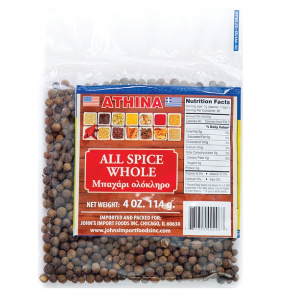 ALL SPICE GROUND	 AND WHOLE