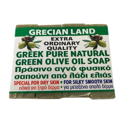 GREEN SOAP, 100% OLIVE OIL, GREEK