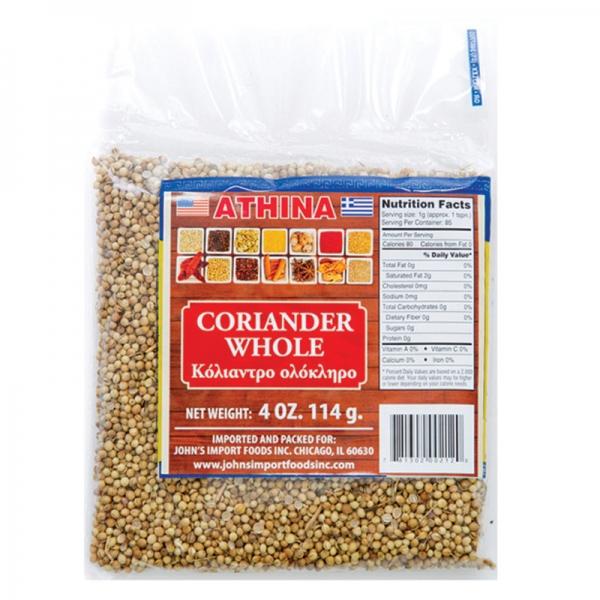 CORIANDER GROUND AND WHOLE